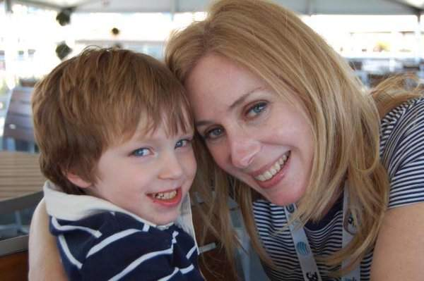 Becky Quick is embracing her son Kyle Nathaniel Quayle. Her son has turned six years old.