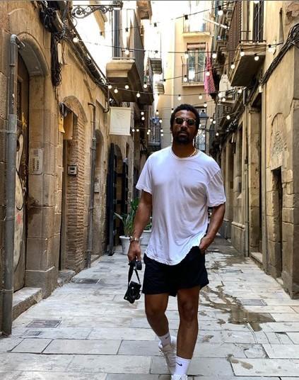 Actor Matte Babel in Amalfi, Italy