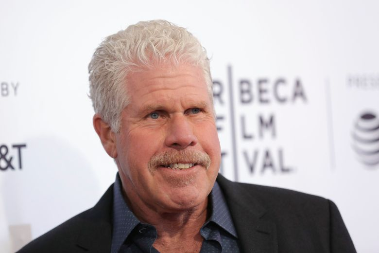 Ron Perlman smiles for the cameras at a premiere event