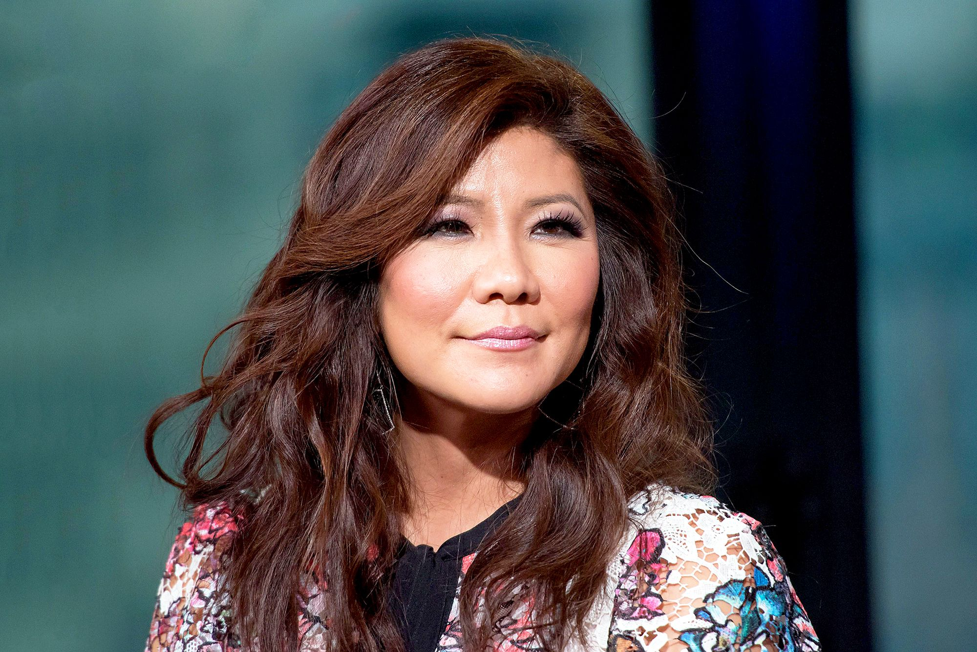 Julie Chen looking giving a slight smile
