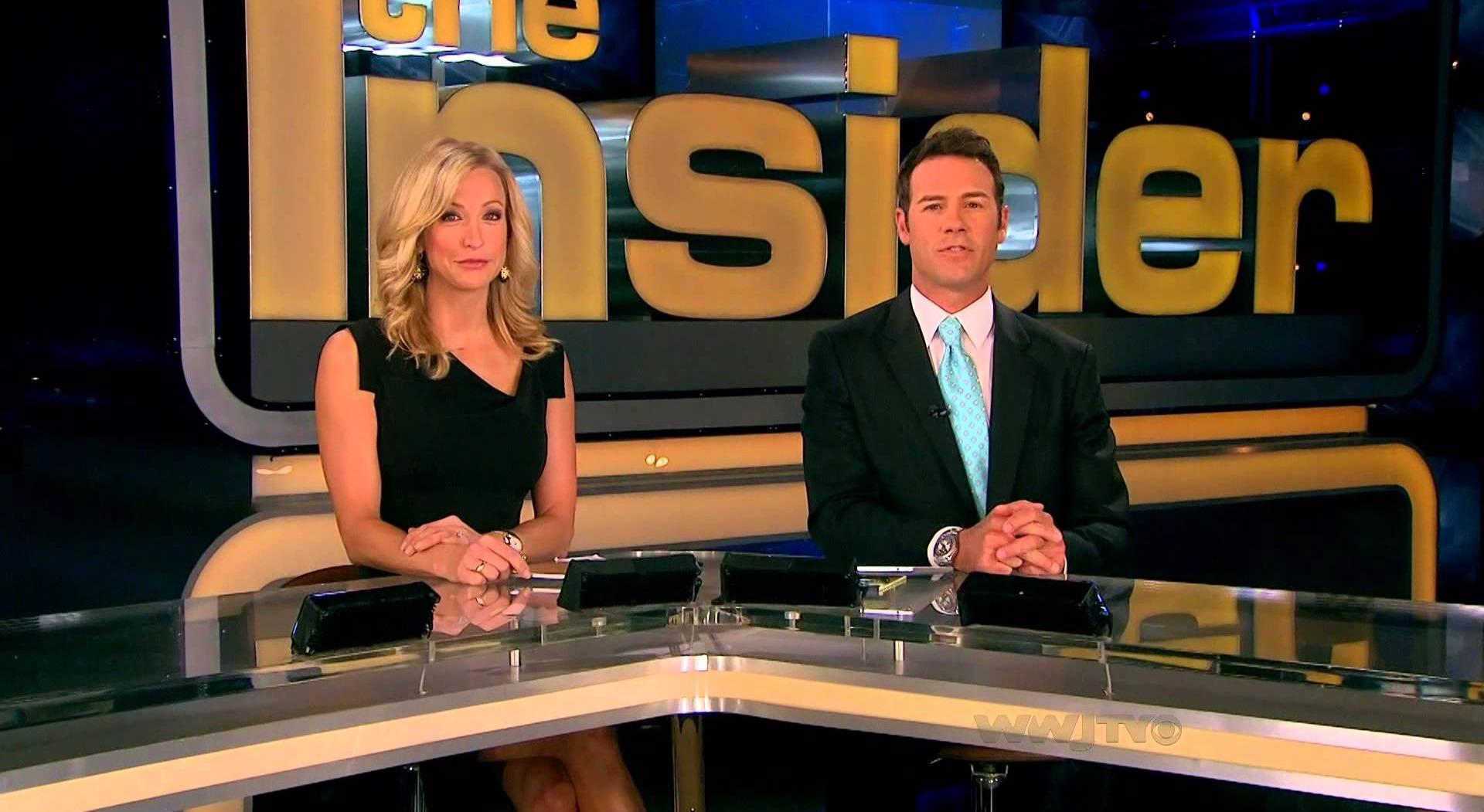 Lara Spencer co-hosting The Insider with Chris Jacobs