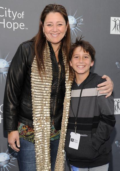 Milo Manheim and his mother, Camryn Manheim attends an event