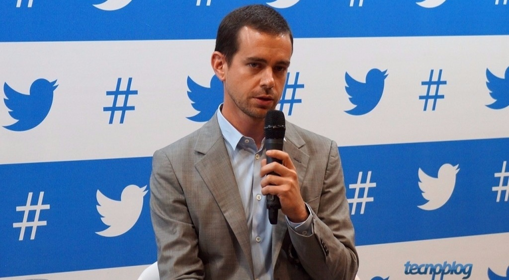 Jack Dorsey speaks in an event hosted by Twitter