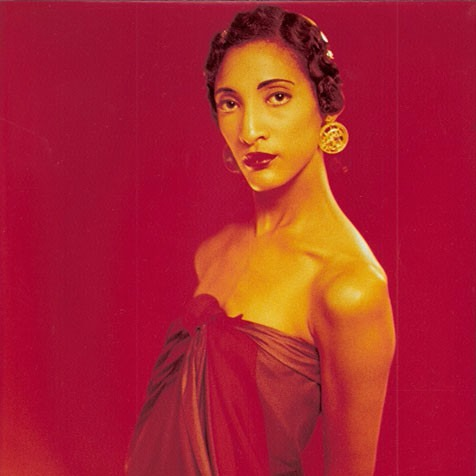 Carla Hall's modeling pic. She did modeling for years  before starting as a chef