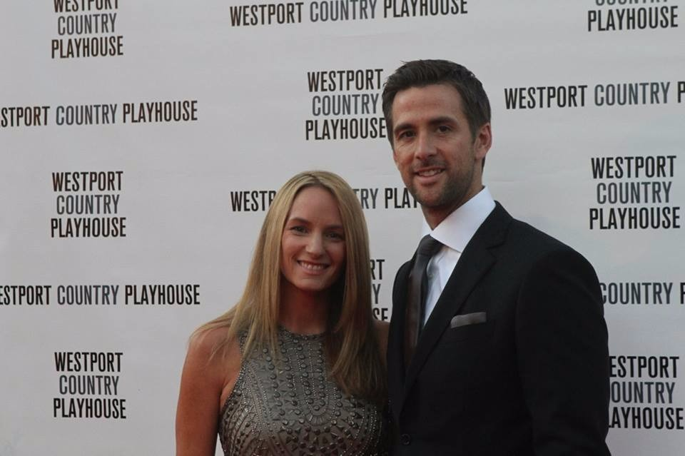 David Briggs with wife Brandi Briggs. They are attending the Westport Country Playhouse gala as a support to the institution.