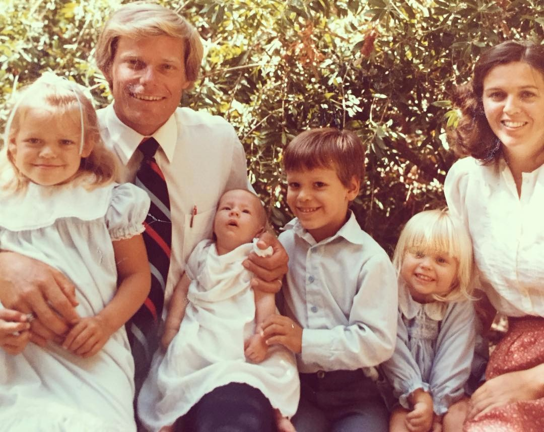 Heidi Watney's childhood picture with her mother, father and siblings.