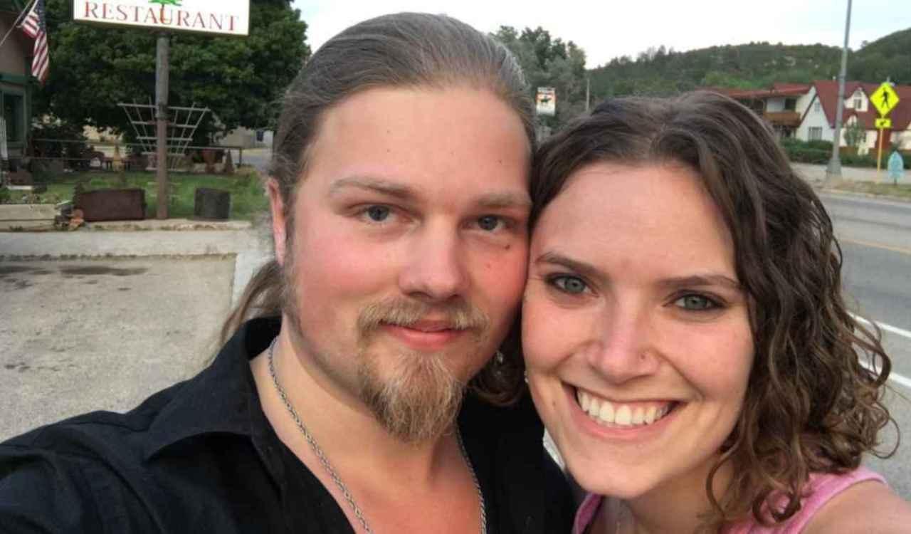 Noah Brown with his fiance, Rhain Alisha