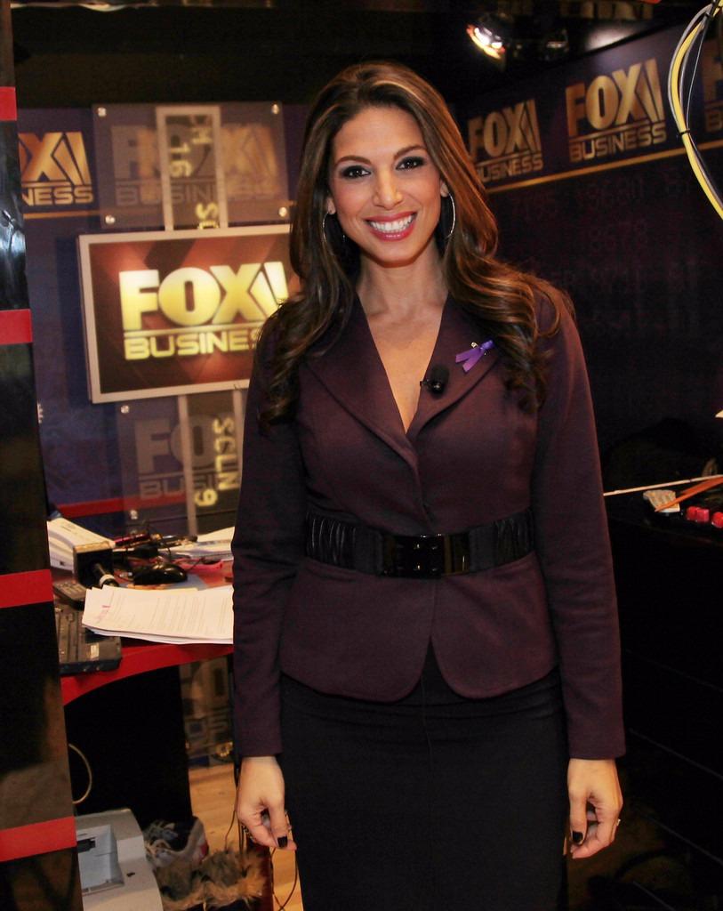 Nicole Petallides poses atFox Business studio