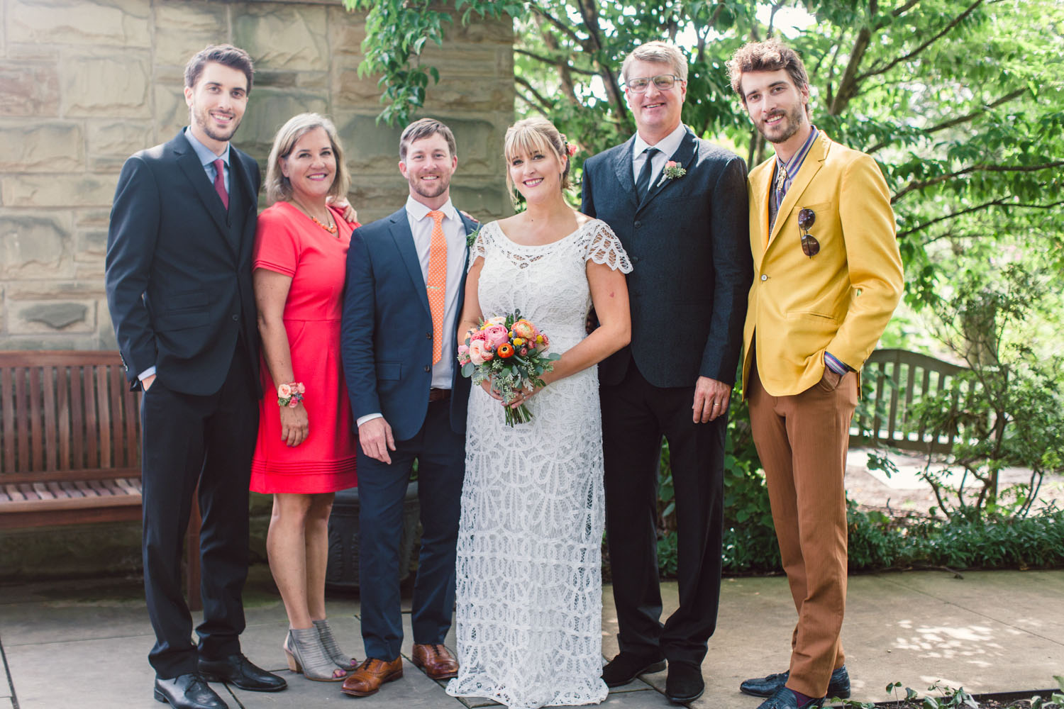 Pete Nelson's family picture from Emily's wedding with Patrick