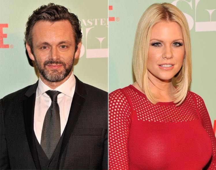Carrie Keagan (Right) and Michael Sheen (Left)