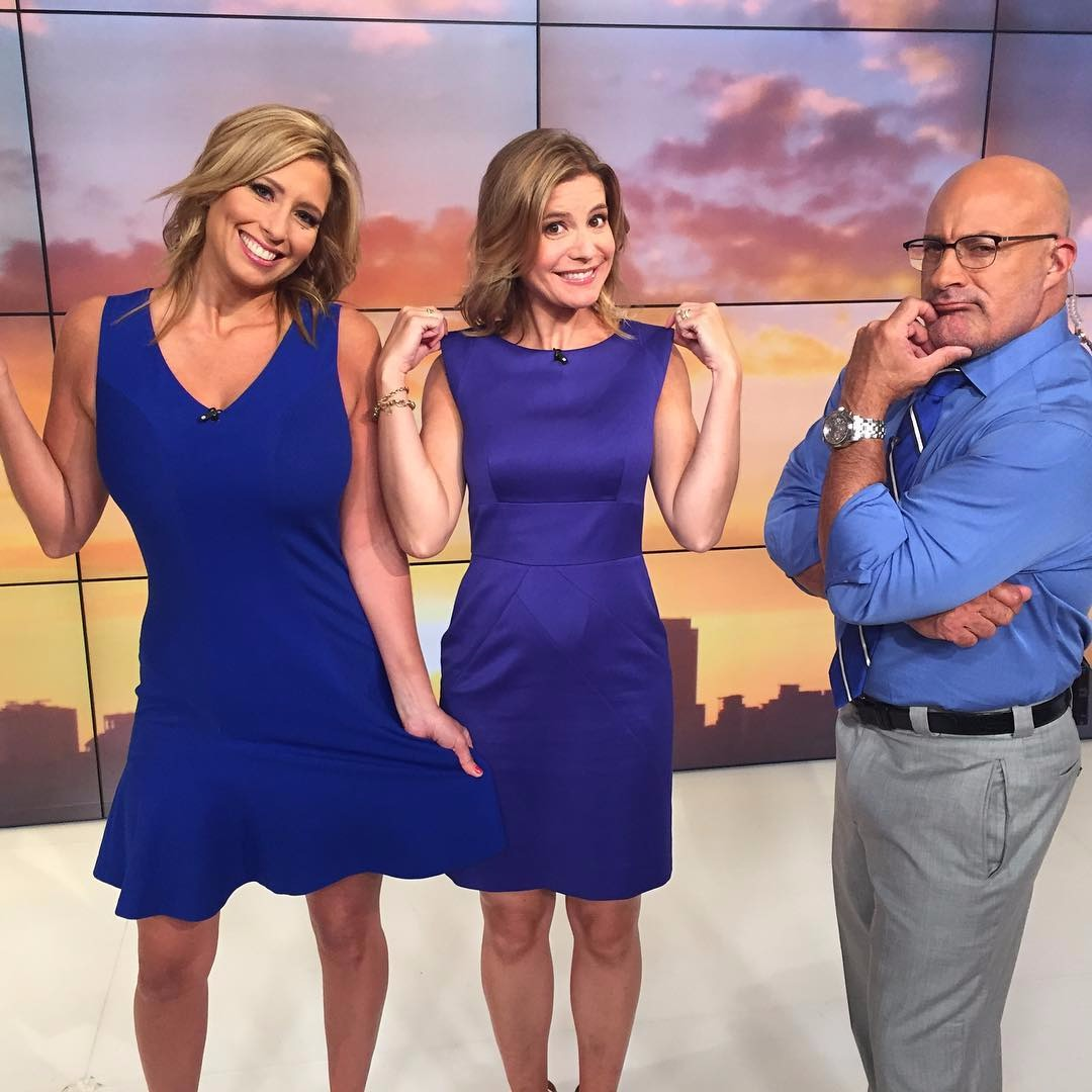 Jen Carfagno with her colleagues of The Weather Channel