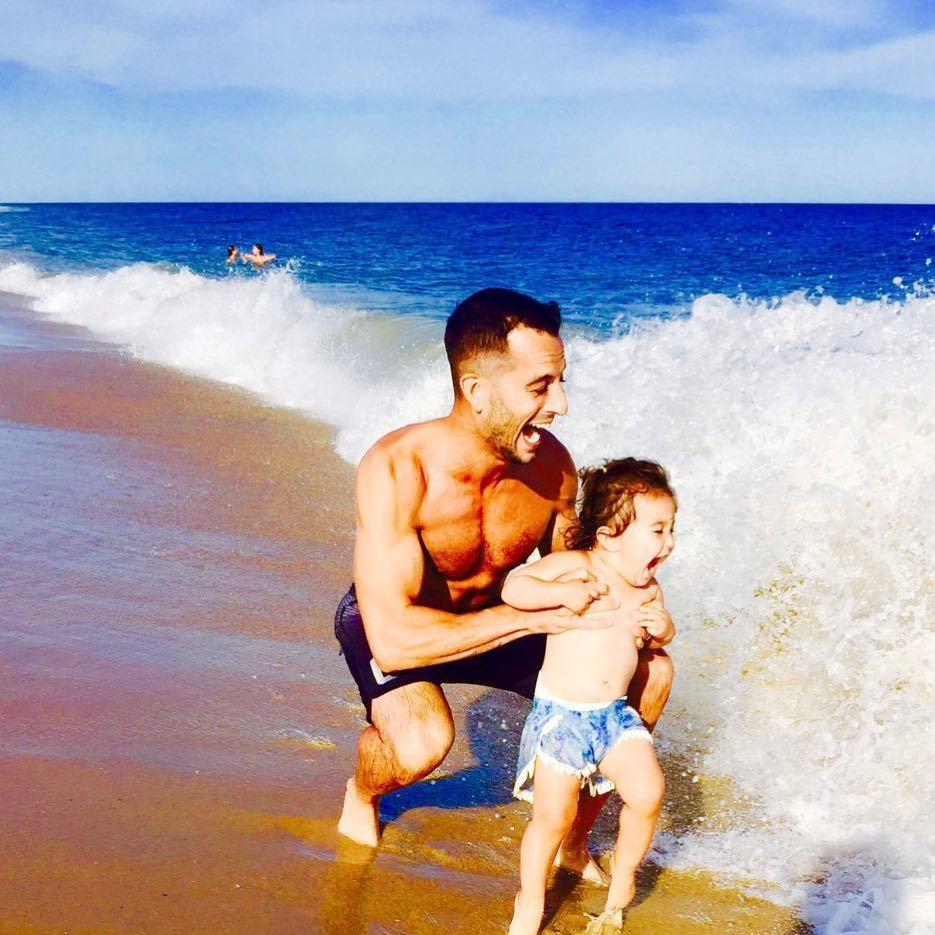 Tony Reali with his daughter