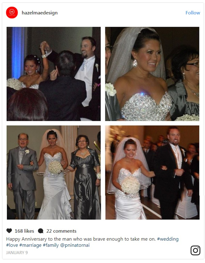 Hazel Mae's posted a collage of their wedding photos  while wishing him 'Happy Anniversary' on January 9, 2017