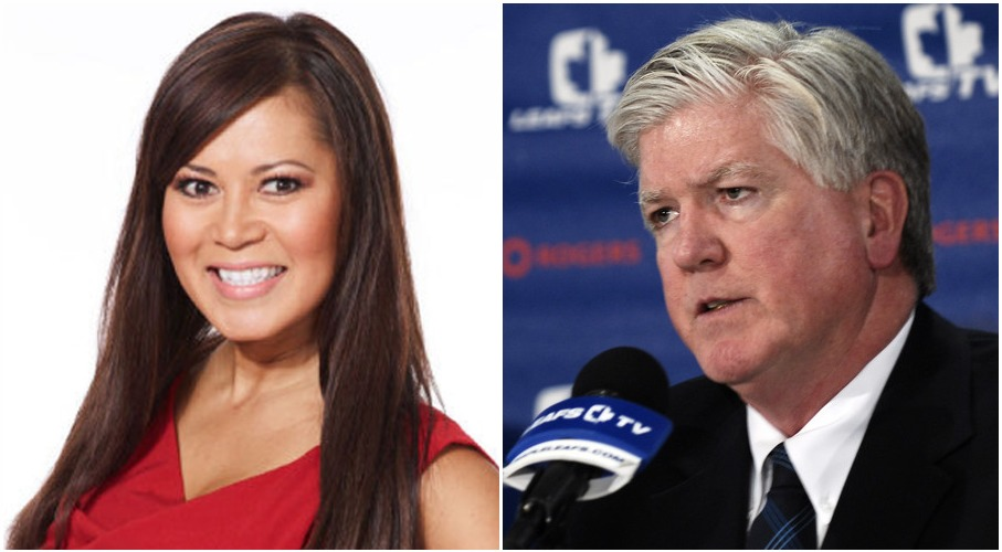 Brian Burke claimed that he was fired from Toronto Maples Leaf for his alleged relationship with Hazel Mae