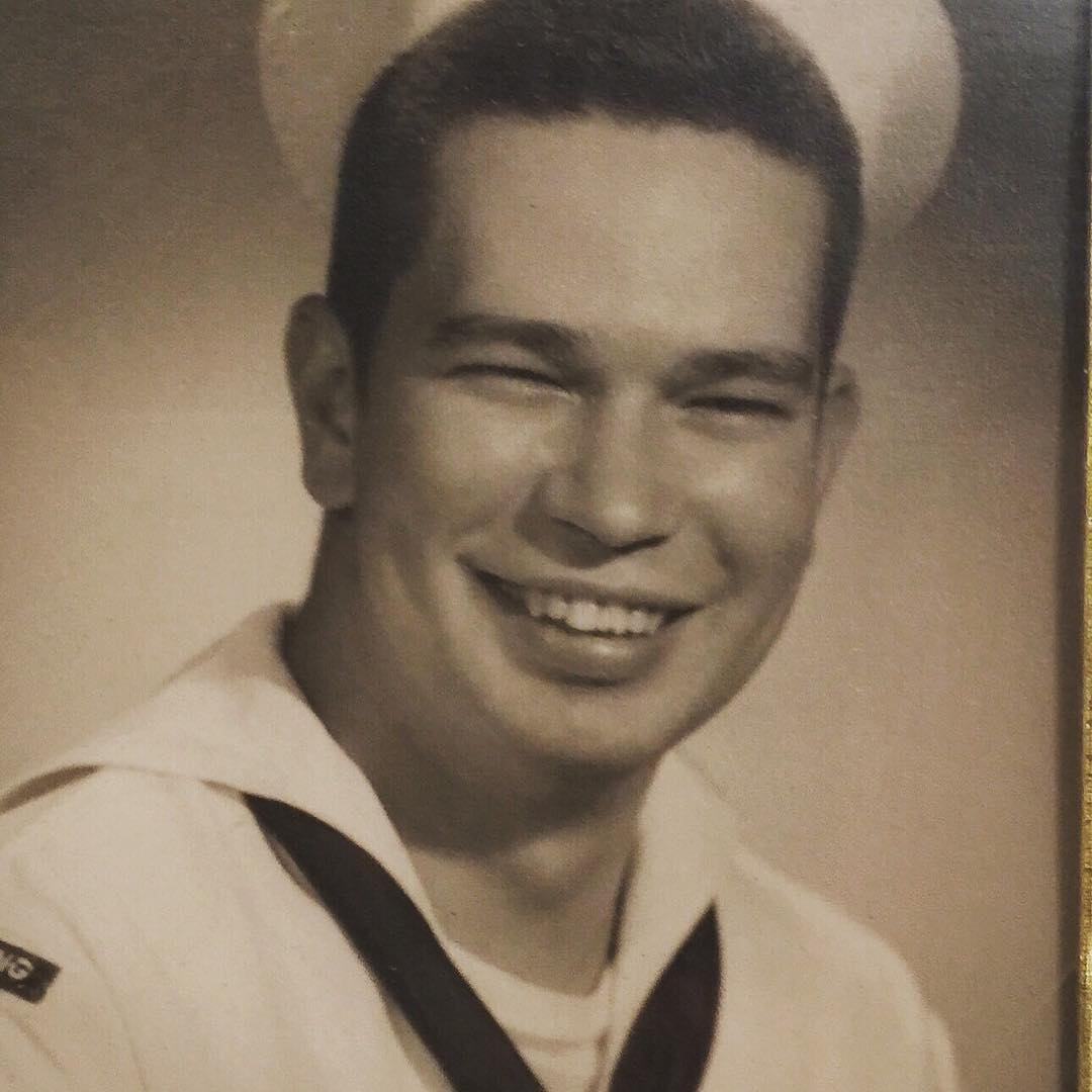 Richard Benjamin Harrison is wearing a Navy uniform