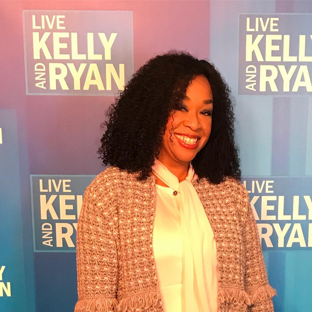 Shonda Rhimes appearing on Live Kelly and Ryan