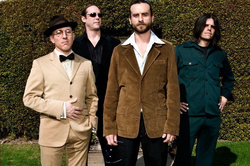 Tool band members Maynard James Keenan, guitarist Adam Jones, bassist Justin Chancellor and drummer Danny Carey