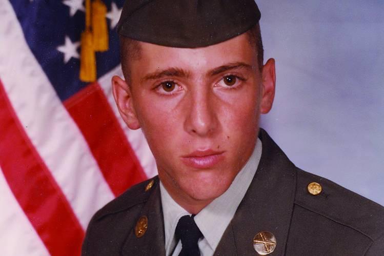 Young Maynard James Keenan in his US Army uniform