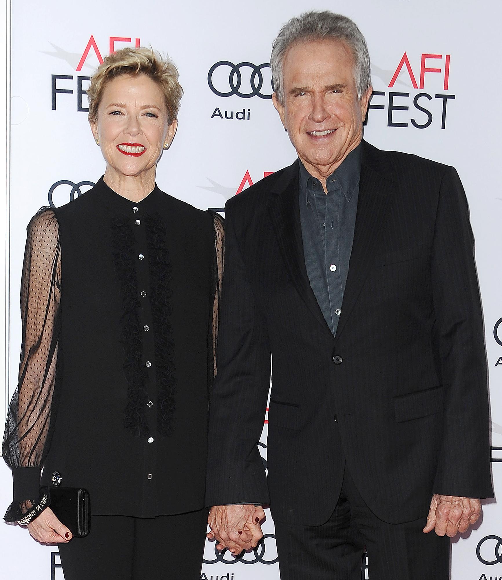 Annette and Warren Beatty