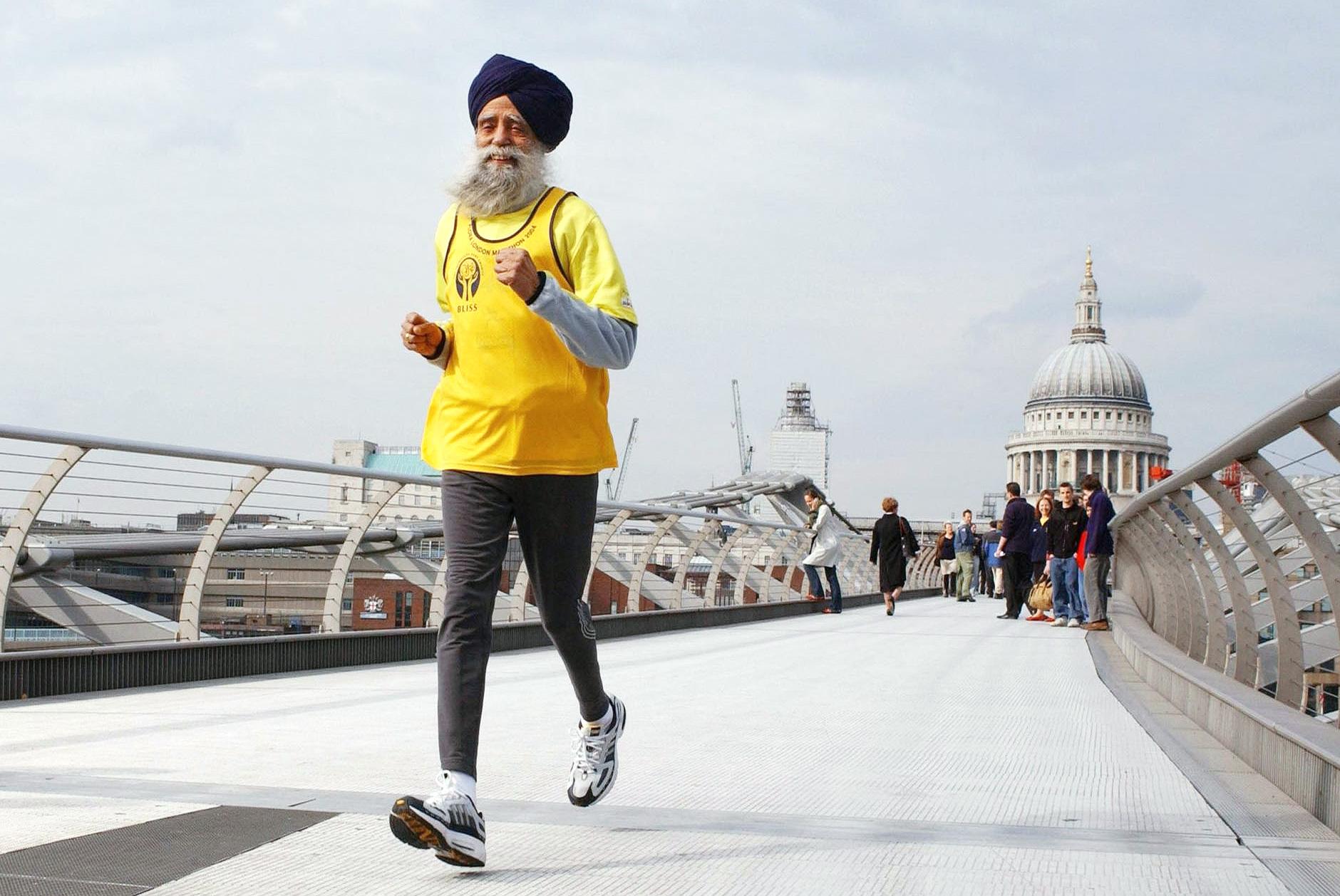 Fauja Singh running