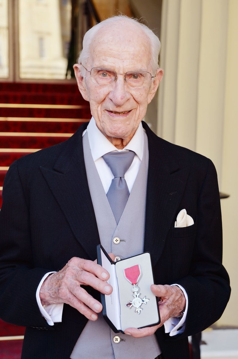 Dr. with his MBE