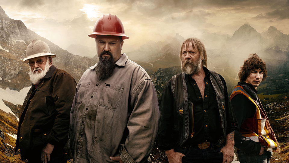 Parker Schnabel, Tony Beets, Todd Hoffman and Jack Hoffman in a promotional image of Gold Rush