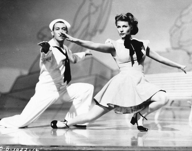 Rita Hayworth is dancing alongside choreographer Jack Cole.