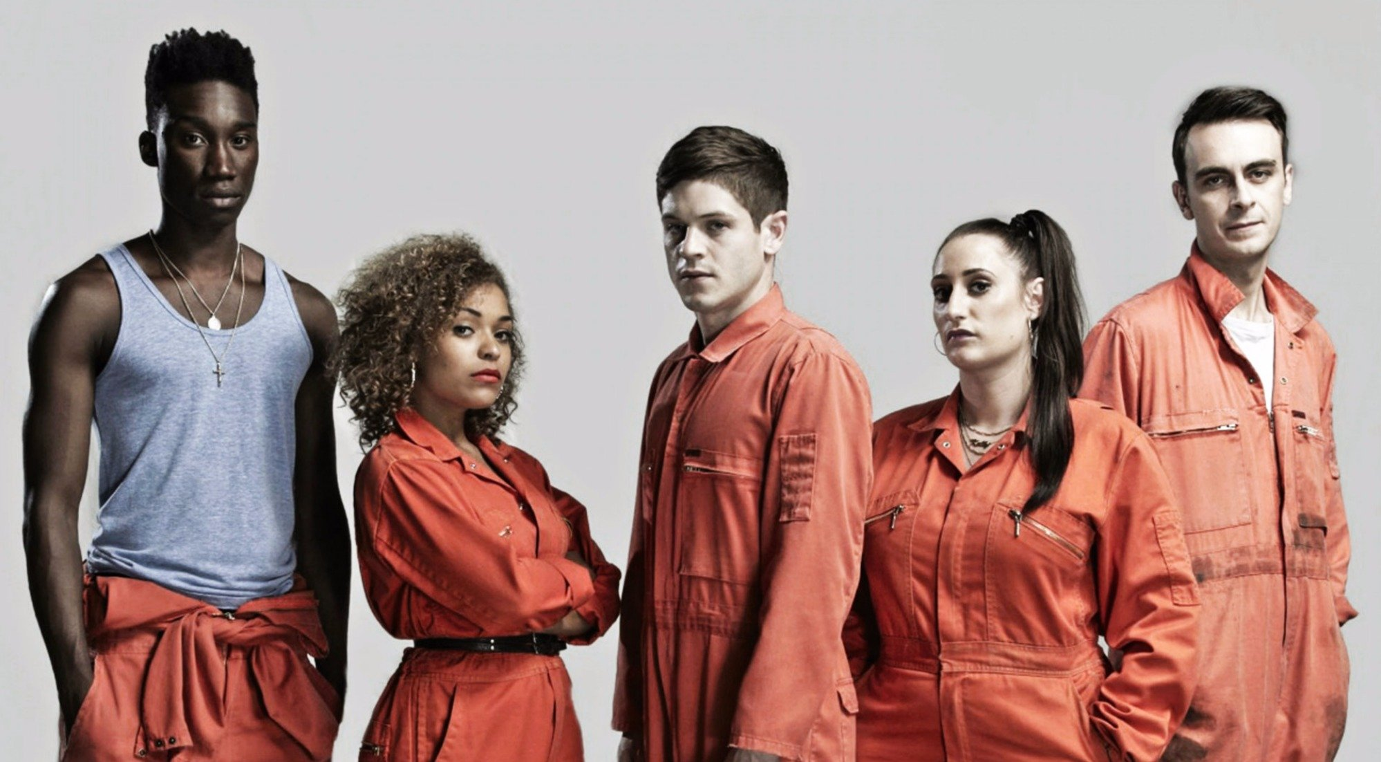 Antonia Thomas along with the cast of 'Misfit'.