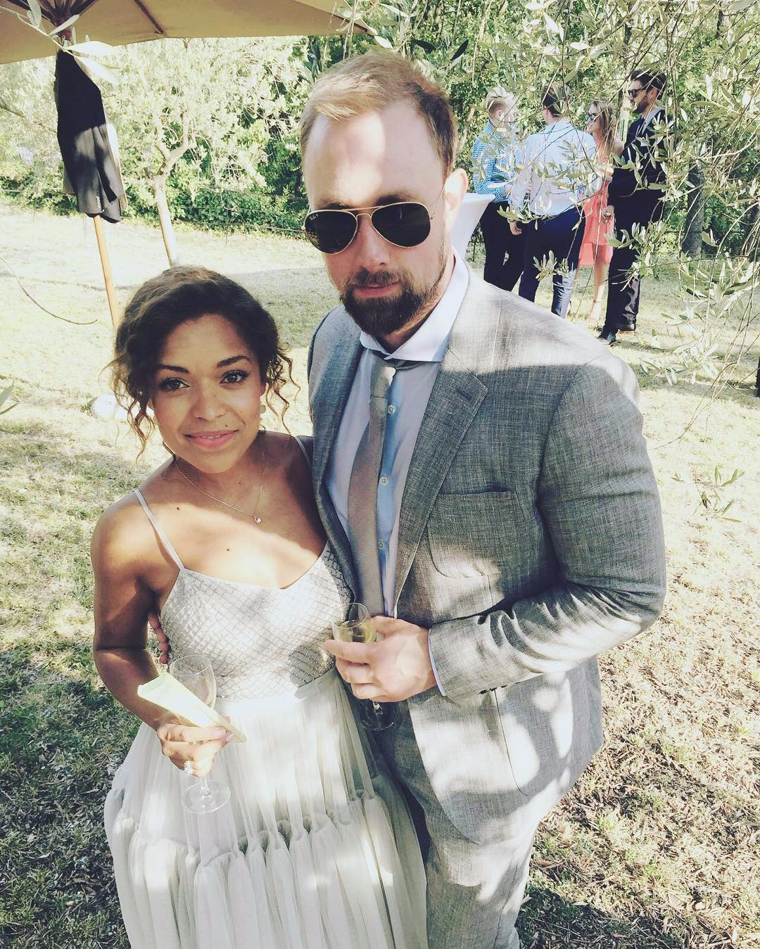Antonia Thomas attending her friends' wedding with Michael Shelford, are they any soon on getting married?