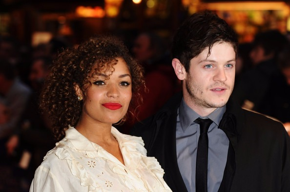 Antonia Thomas and rumored beau Iwan Rheon at the Premiere:55th BFI London Film Festival