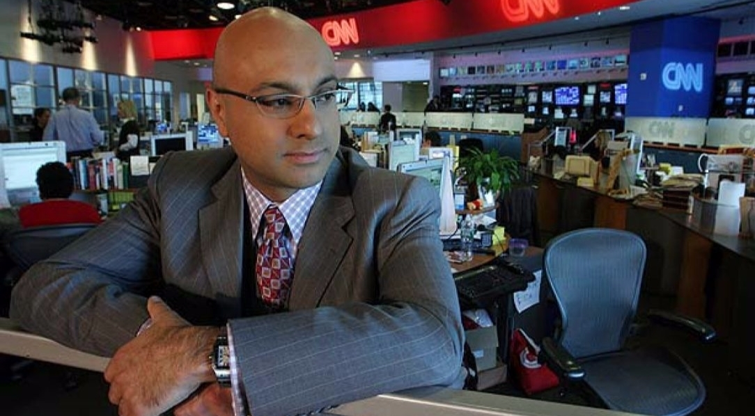 Ali Velshi at CNN office