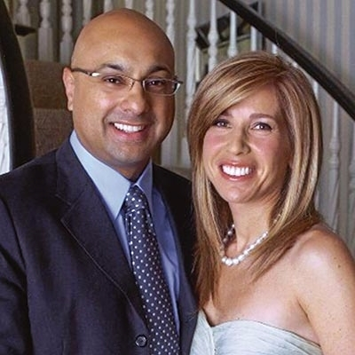 Ali Velshi and wife Lori Wachs