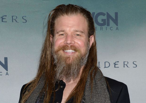 Ryan Hurst with a wide smile on his face