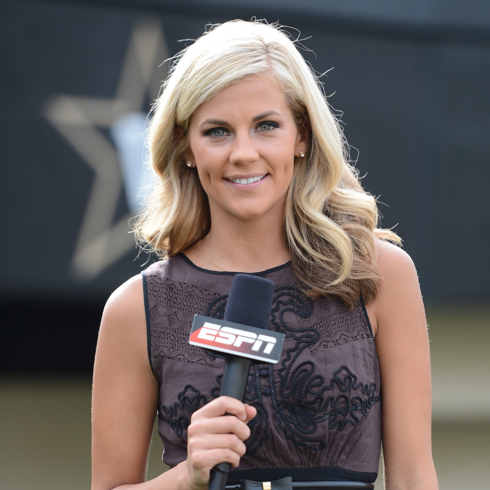 Samantha Ponder as a sideline reporter for ESPN