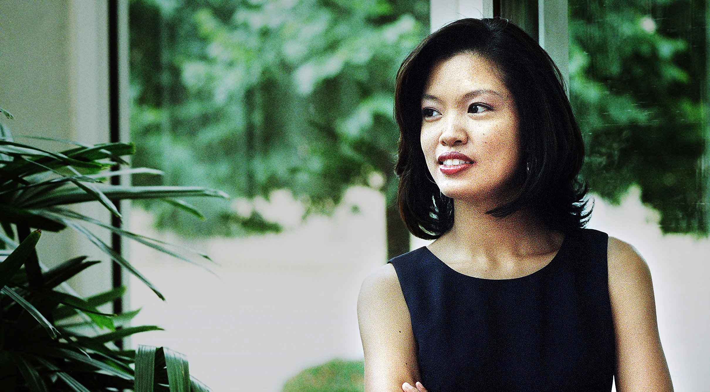 Michelle Malkin looks attractive in black dress and short hair