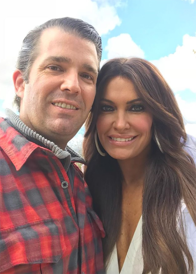 A selfie of Don Jr. and Kimberly Guilfoyle. The former Fox News host, Kimberly Guilfoyle reportedly addresses Don Jr. as Junior Mint and Don Jr. calls her Pooh Bear.