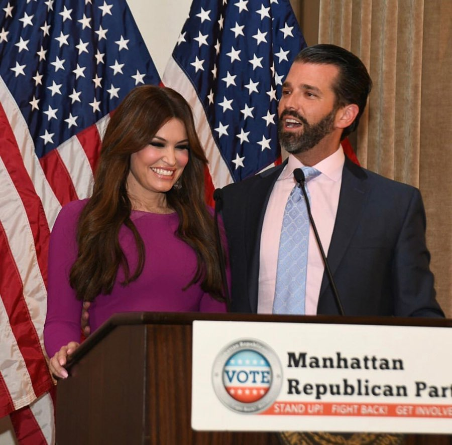 Former First Lady of San Francisco and current Senior Adviser for Donald Trump's 2020 Presidential Campaign, Kimberly Guilfoyle with her current partner and President Donald Trump's son Donald Trump Jr. They have been together since 2018.