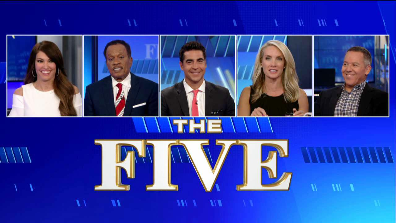 From right Greg Gutfeld, Dana Perino, Jesse Watters, Juan Williams and Kimberly Guilfoyle. Kimberly Guilfoyle served as legal analyst on the show from 2011 to 2018.