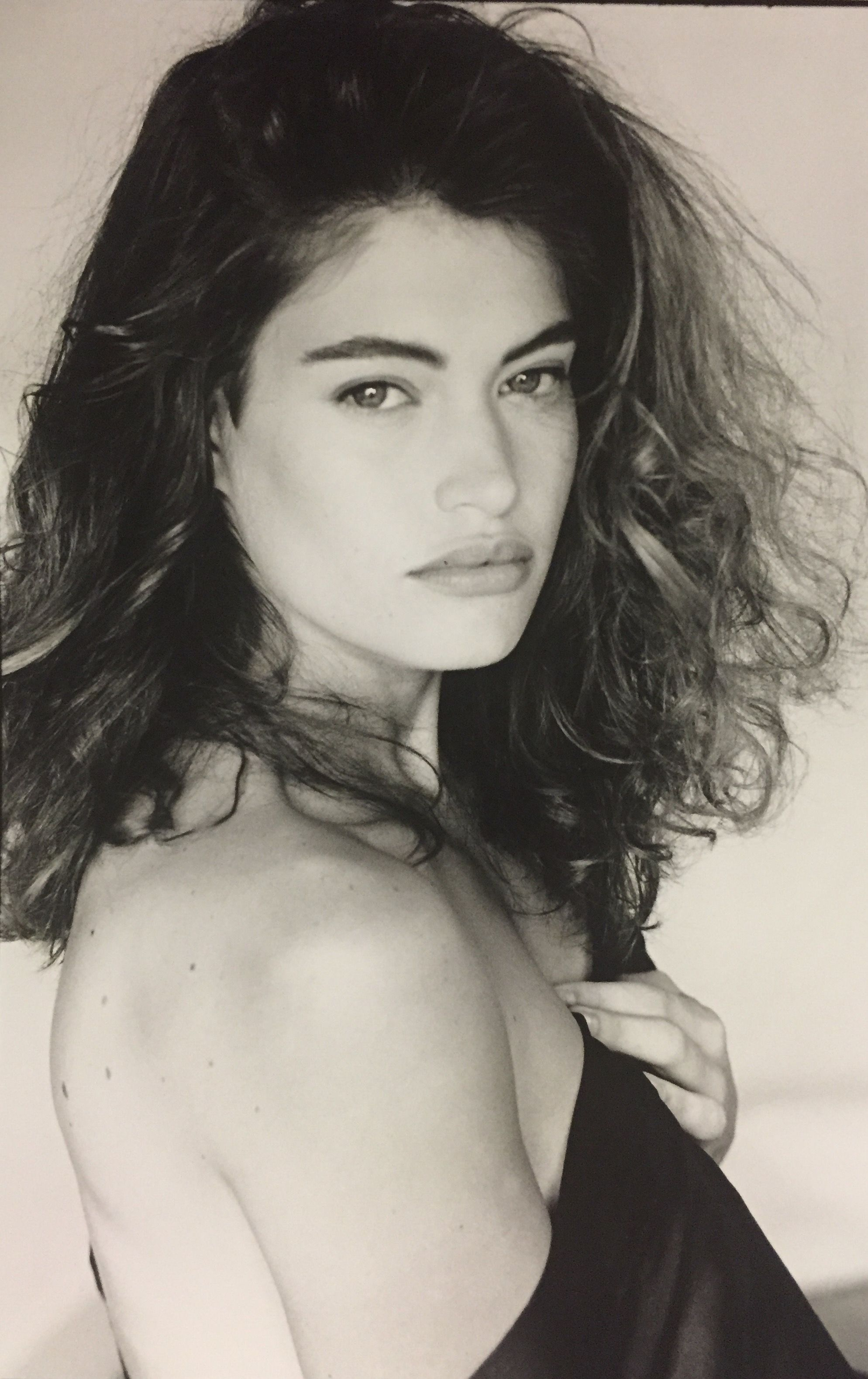 a black and white image of Kimberly Guilfoyle. Kimberly was a glamour model at some point in her life.