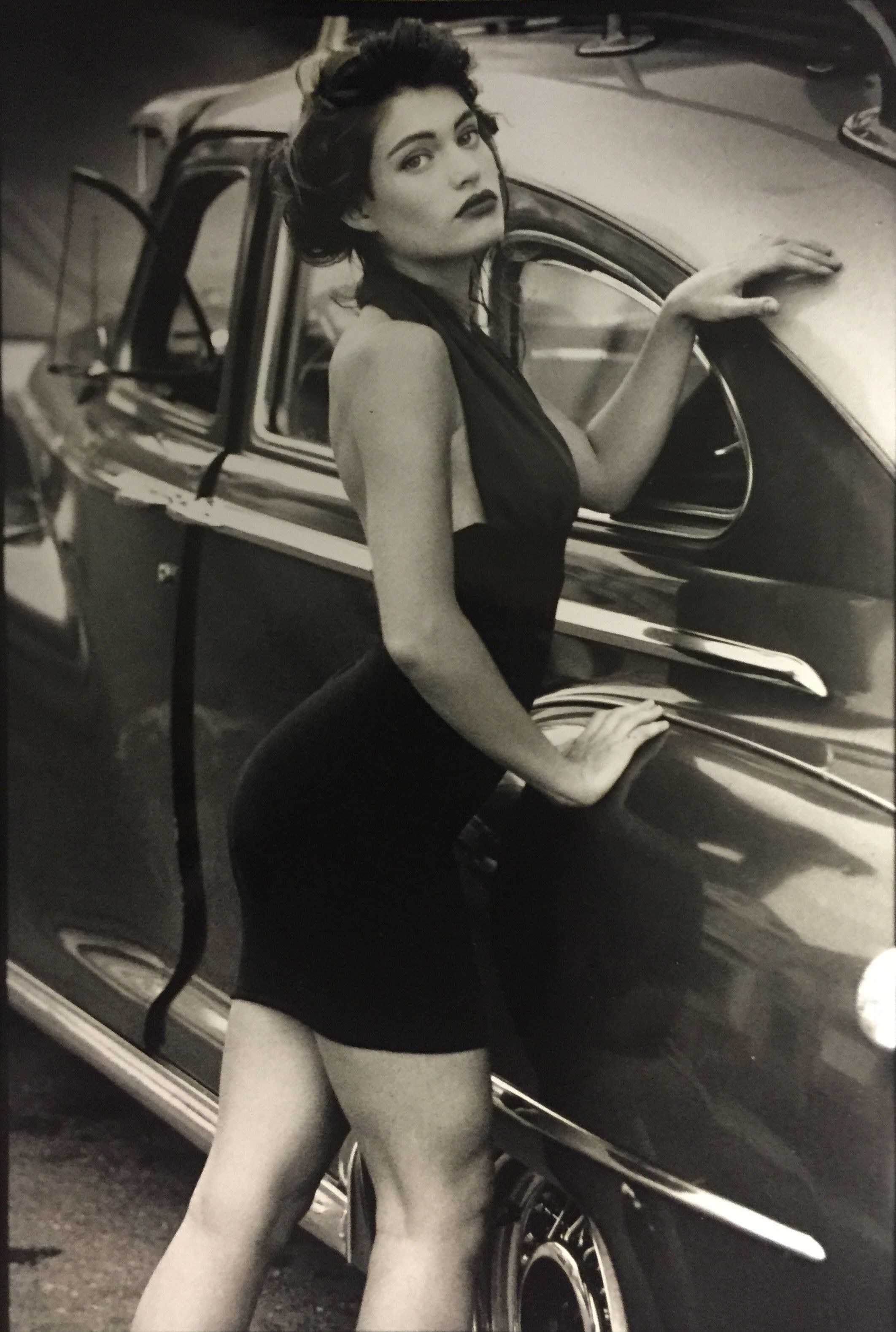 Black and white image of Kimberly Guilfoyle. Kimberly Guilfoyle modeled for clothes, swimwear, and lingerie, including Victoria's Secret!