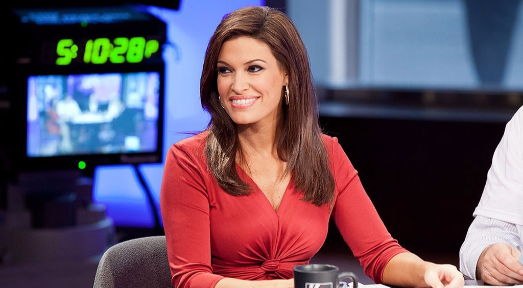 Kimberly Guilfoyle in a gorgeous red dress