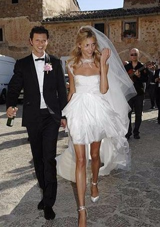 Anja Rubik and Sasha Knezevic look happy in the picture of their wedding day