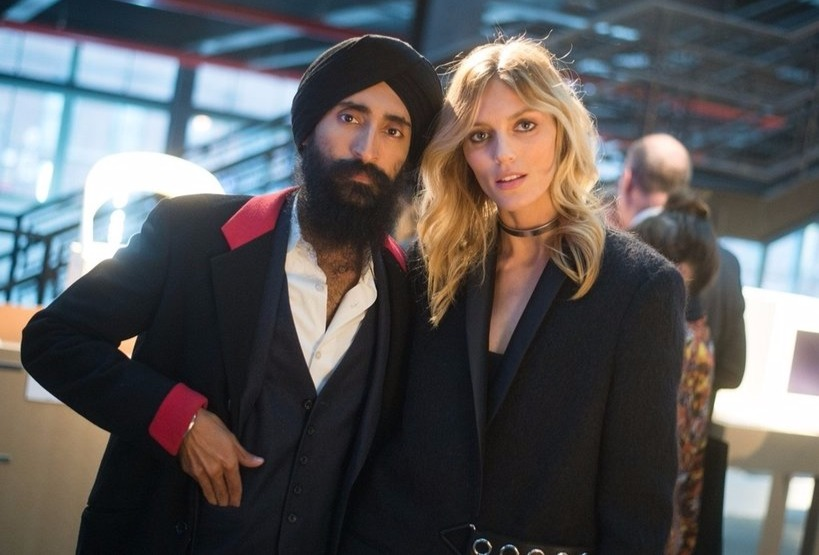 Anja Rubik and Waris Ahluwali attended Creative Time Spring Gala together on April 28, 2016.