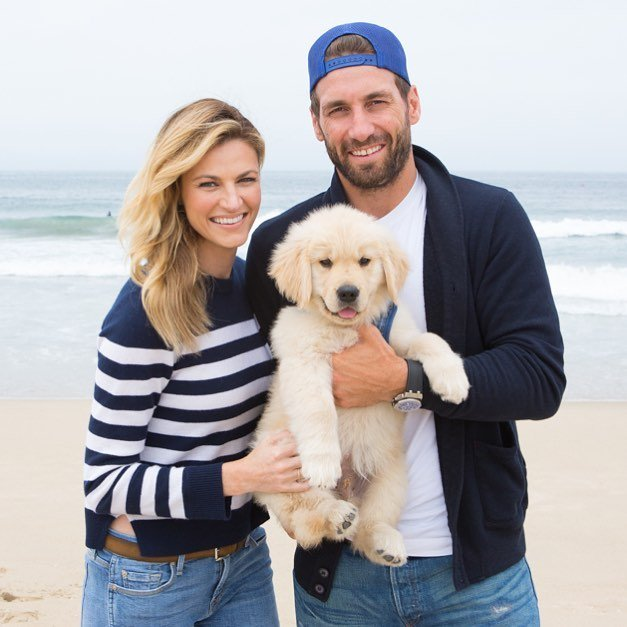 Erin Andrews and Jarret Stoll consider their golden retriever, Howard as their baby boy