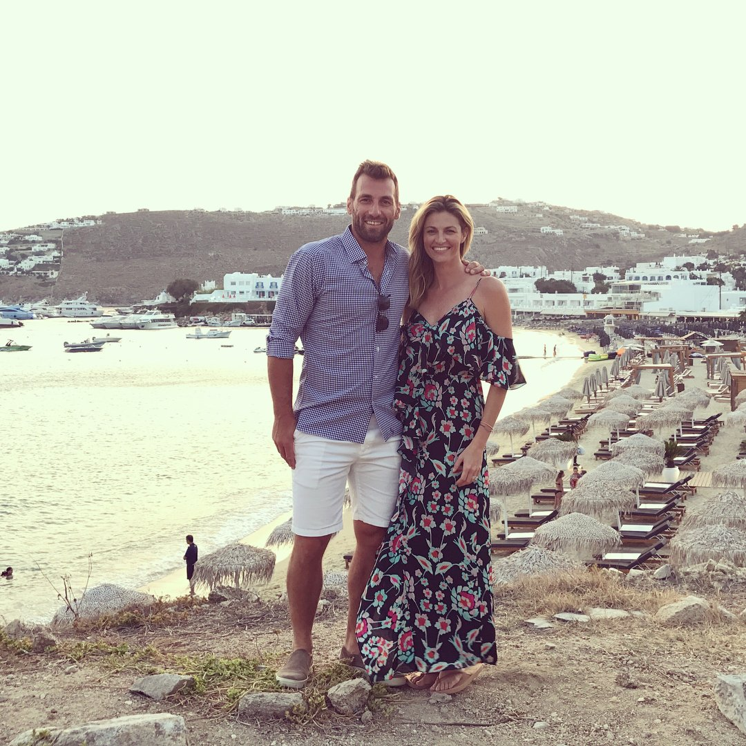 Erin Andrews and Jarret Stoll in a vacation