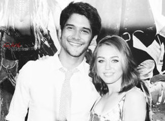 Tyler Posey and Miley Cyrus. Tyler Posey revealed that Miley Cyrus was the first girl he ever dated.