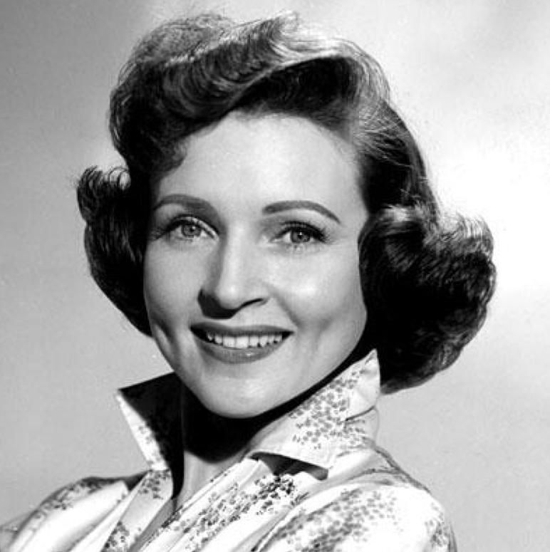 Black and White photo of beautiful Betty White
