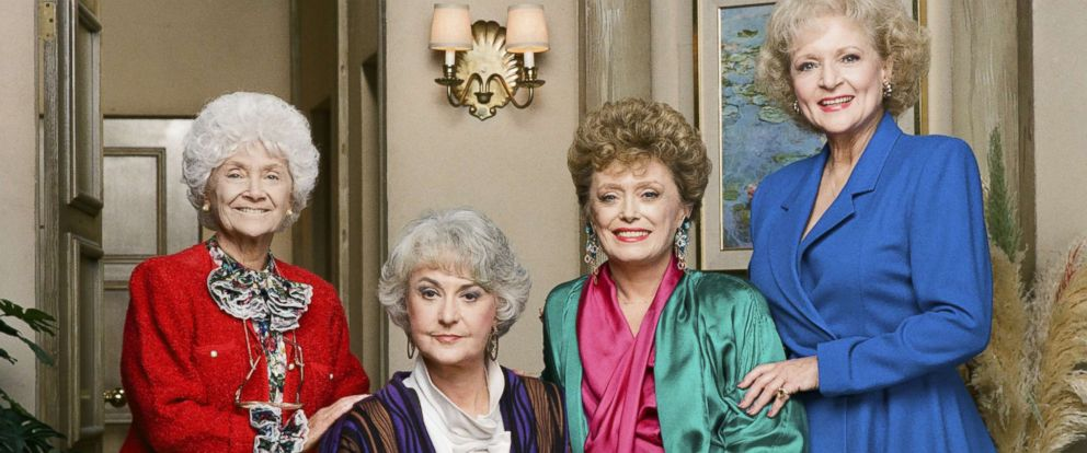 The main protagonists of The Golden Girls Including Betty White