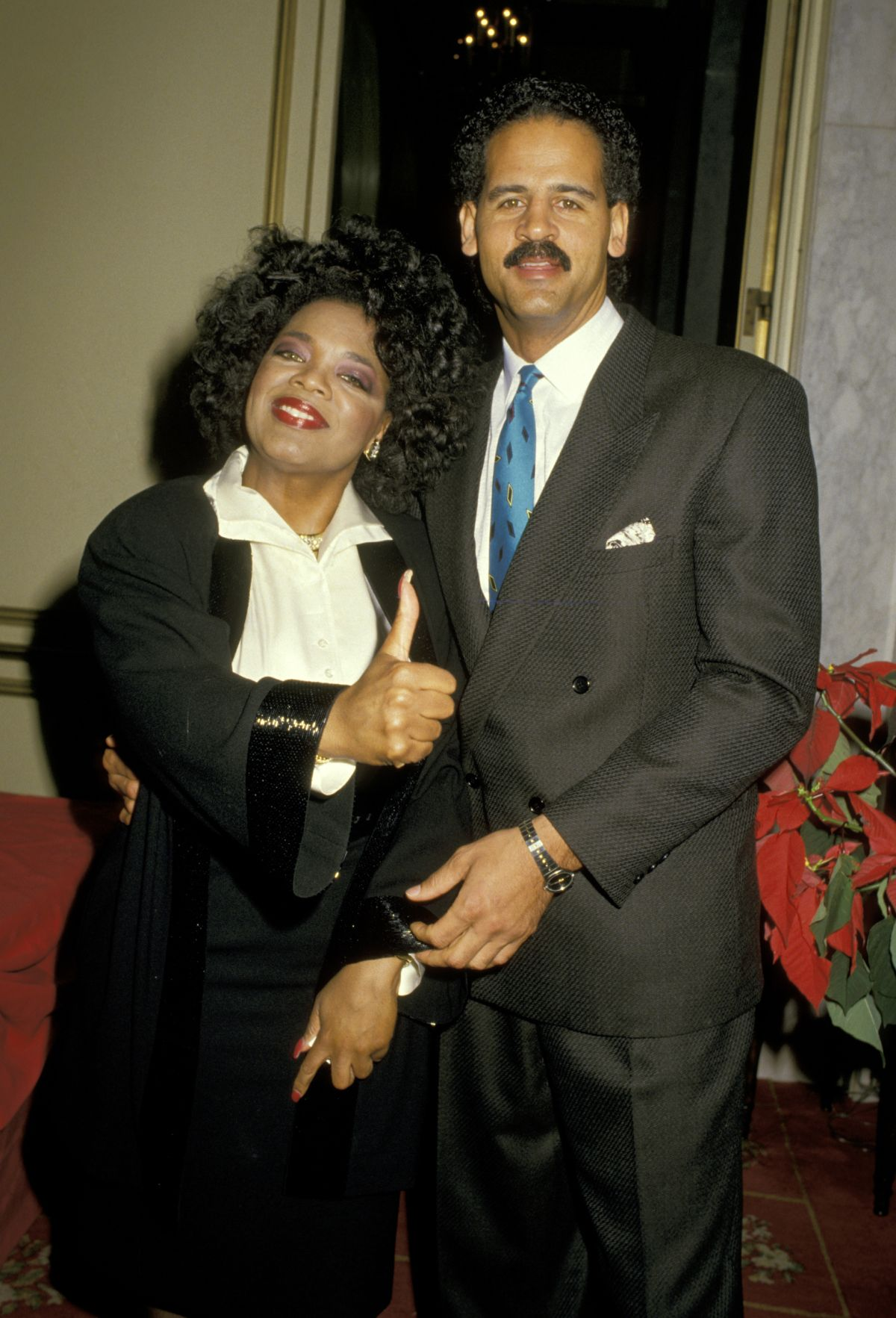 Oprah Winfrey and Stedman Graham at White House. Due to her past relations Oprah Winfrey had some issues trusting Stedman Graham.