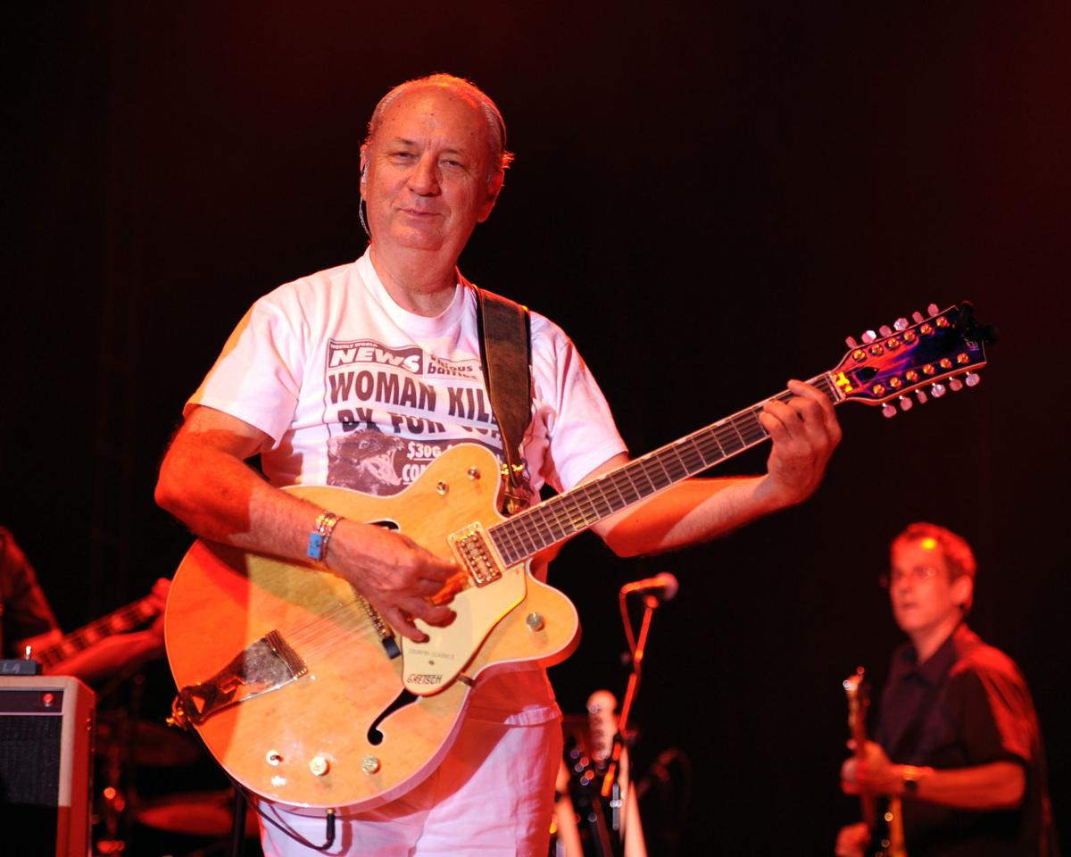 MIchael Nesmith performing at a stage